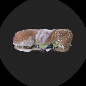 Sandwich mit Guacamole