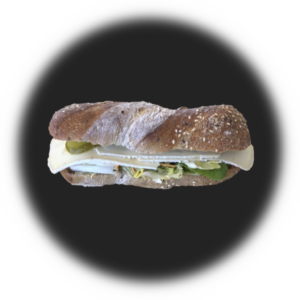 Sandwich mit Käse Brie o Gruyere