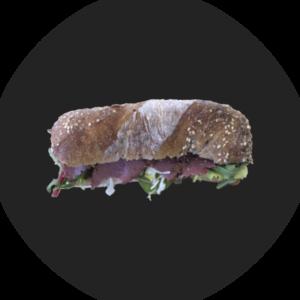 Sandwich mit Rindspastrami