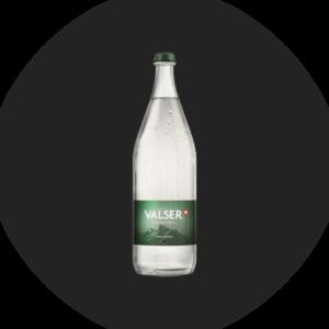Wasser mit Kohlensäure Valser, Glas, 1 l